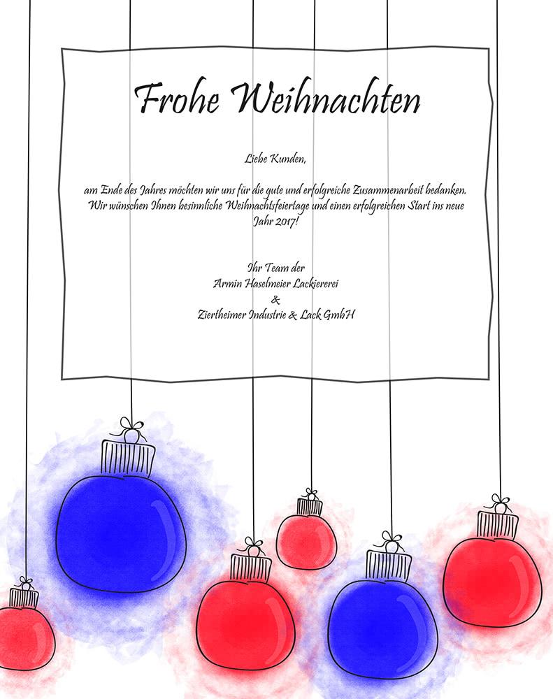 Frohe Weihnachten - Ziertheimer Industrielackierung